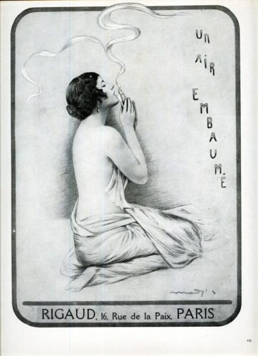 Advertisement for Rigaud's scent, Un Air Embaumé