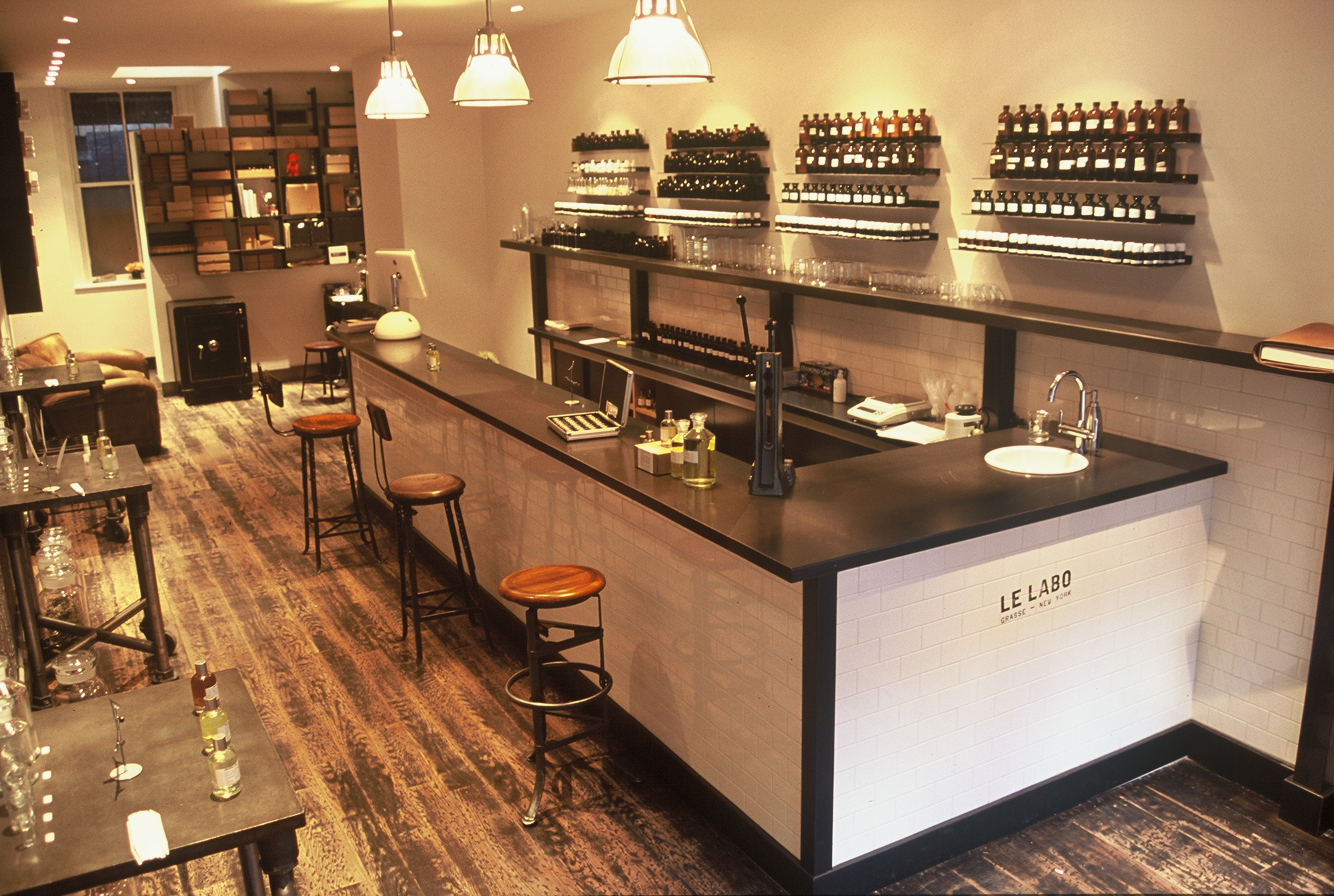 Le Labo's New York outpost on Elizabeth Street in Nolita.  Photo courtesy Le Labo.